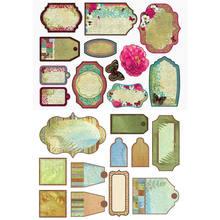 2 teile/los Vintage Blank Label Dekoration Mohamm Planer DIY Aufkleber Album Notebook Agenda Spielzeug Aufkleber Scrapbooking