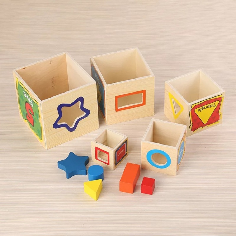 Learning Education wood Intelligence Box Montessori Educational Toys for Children Kids Toy 13 Holes Shape Sorter Early toys learning education wood intelligence box montessori educational toys for children kids toy 13 holes shape sorter early toys