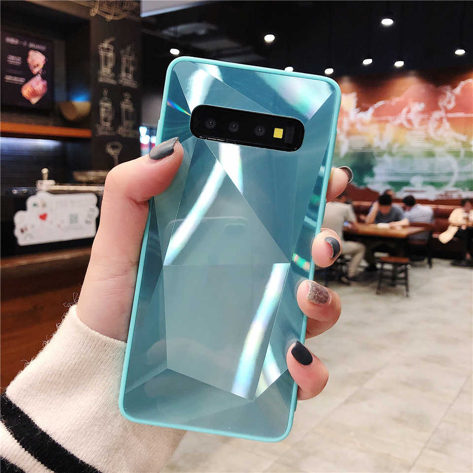 3D Bling TPU + PC Case for Samsung Galaxy S10 S10E S9 Plus S8 A10 A20 A30 A50 A70 M30 M20 M10 Cover Hard Diamond Phone Cases