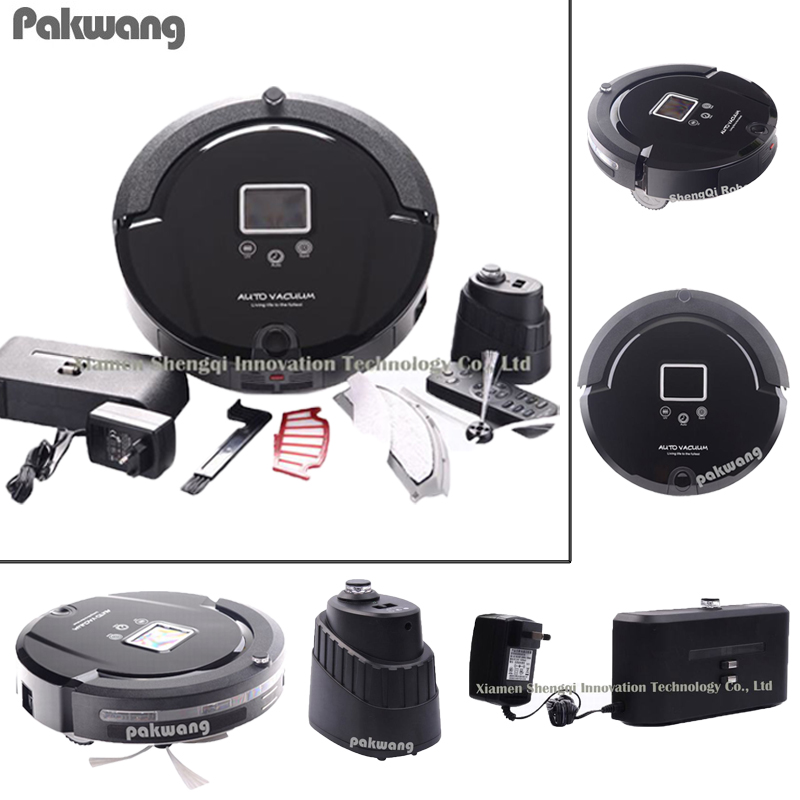цена на 4 In 1 Multifunction Robot Vacuum Cleaner (Sweep,Vacuum,Mop,Sterilize),Lcd Touch Screen,Schedule,Vaccum