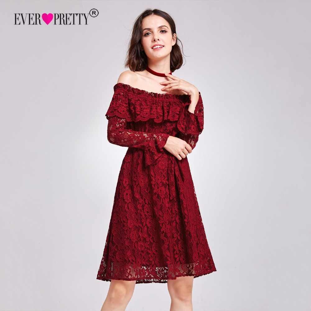 65906888e037 Когда-либо довольно Для женщин пикантные Короткие вечерние платья Кружева  ...