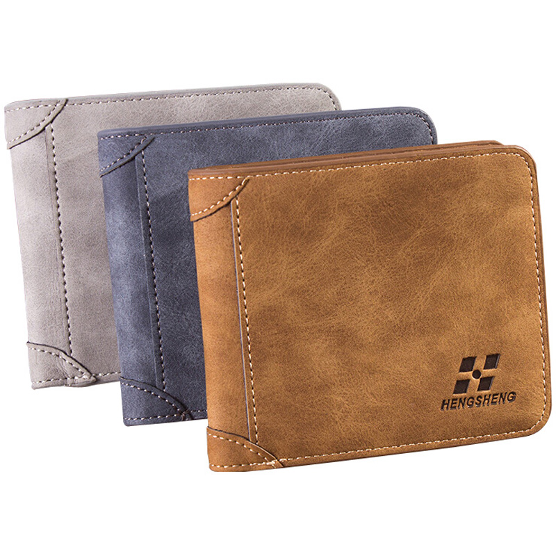 New arrival Vintage Short designer Nubuck Leather Man wallets Solid purse for men card holders monederos carteras hombre new arrival 2017 wallet long vintage man wallets soft leather purse clutch designer card holders business handbags clips