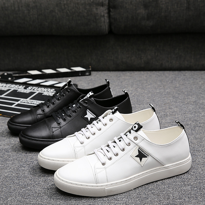 ФОТО Black and White Plate Casual Shoes Luxury Fashion Men Loafers England Style Young Man Dress Shoes Flats