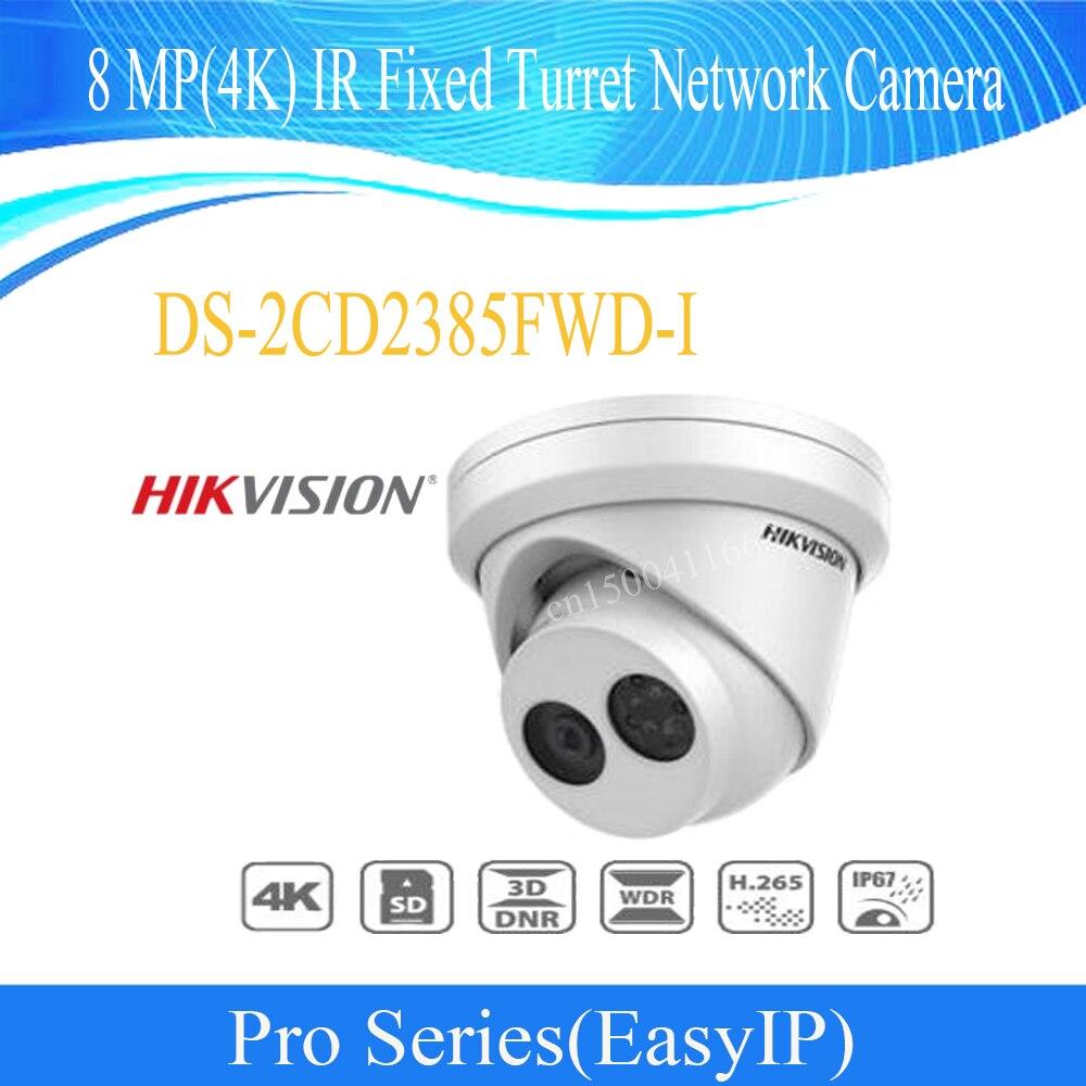 HIKVISION livraison gratuite caméra IP 4 k caméra cctv 8 MP (4 K) caméra réseau à tourelle fixe IR IP67 DS-2CD2385FWD-I