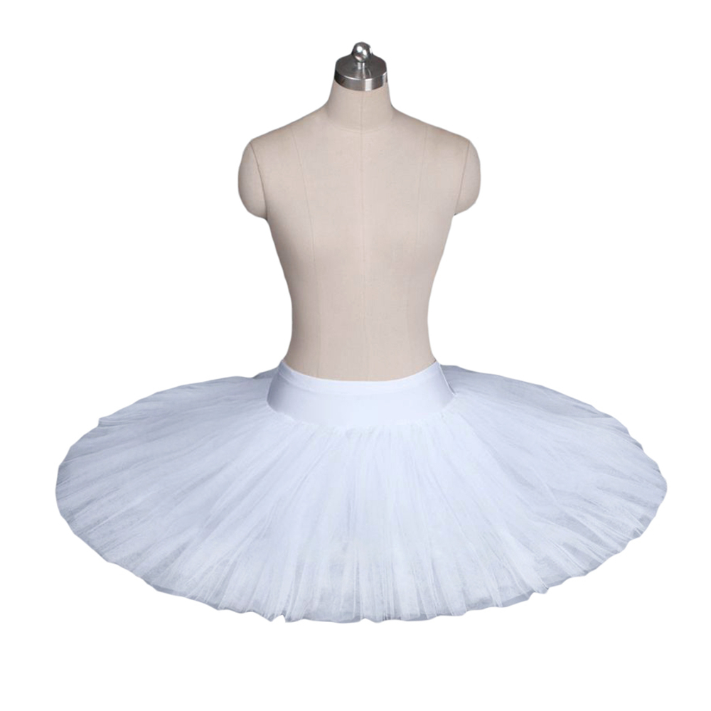 "Leo firm tulle Juliet Tutu 20/"" mesh white skirt ballet dance"