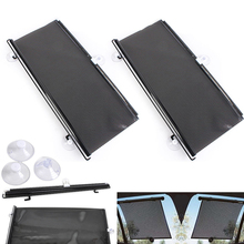 Car Window Black Roller Block blinds Shades for Sun Visor Windshield 40cm x 60cm Auto Curtain Side Protector