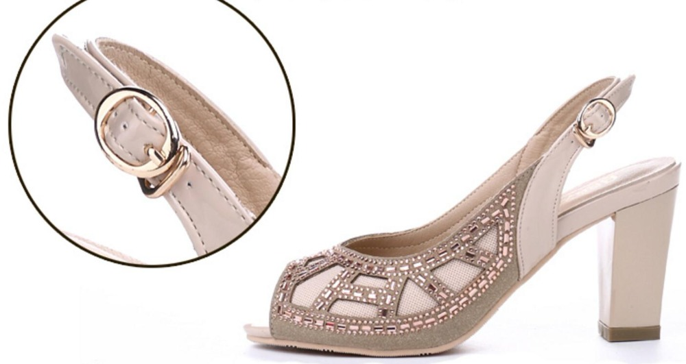 ... with summer fashion sandals mouth leather real wedding sh fish drill  the ladies  chunky new ... 50d2c5408185
