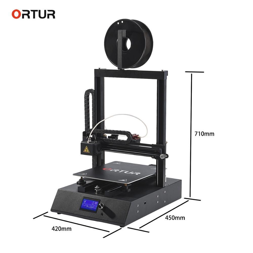Frete grátis Ortur4 Impressora 3d de Metal Full Frame Sensor de Alta Precisão Excentricidade Kkit Imprimante Impresora Filamento Impressora 3d