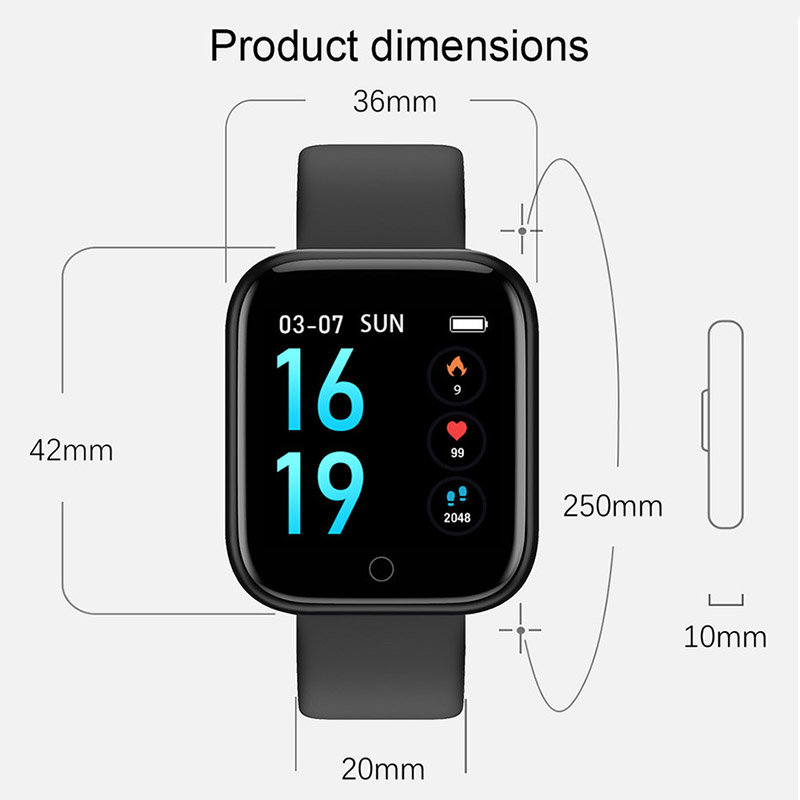 Smart Watch Waterproof Blood Pressure Sleep Monitor Step Smart Band Fitness Bracelet Activity Tracker SmartBand Health Wristband in Smart Wristbands from Consumer Electronics