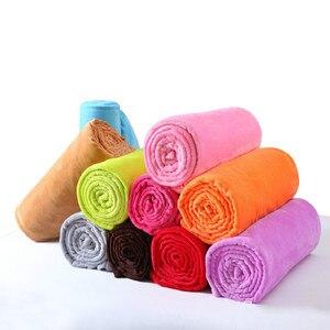 Image 2 - CAMMITEVER 10 Colros супер теплое мягкое домашнее текстильное одеяло, одноцветные фланелевые одеяла, покрывала, простыни