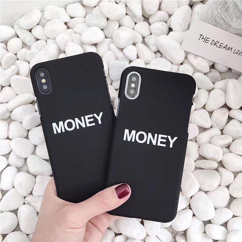 Новый жесткий деньги слова узор телефон назад чехлы для iPhone X для iPhone 8 7 6s плюс