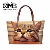 Waterproof Shoulder Handbags Animal Pattern Women Travel Girly Messenger Bags Over the Shoulder bag for Teens Cat Printing bags
