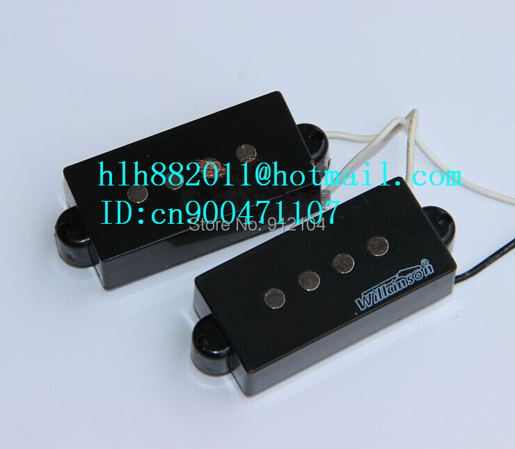free shipping new 4 strings electric bass guitar pickup in black made in China  wk-11 цены онлайн