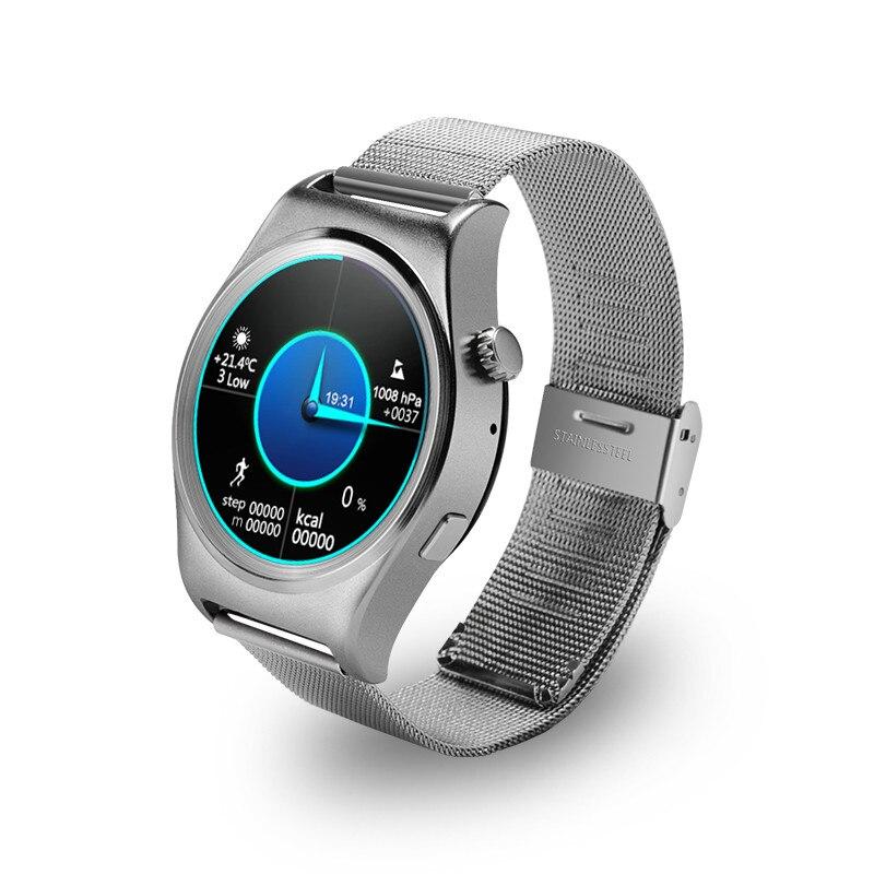 imágenes para Smartch Pianístico Redondeado Reloj Inteligente X10 X10 Suppors Sedentaria Recordar Bluetooth Monitor de Ritmo Cardíaco 4.0 Smartwatch Para Android IOS