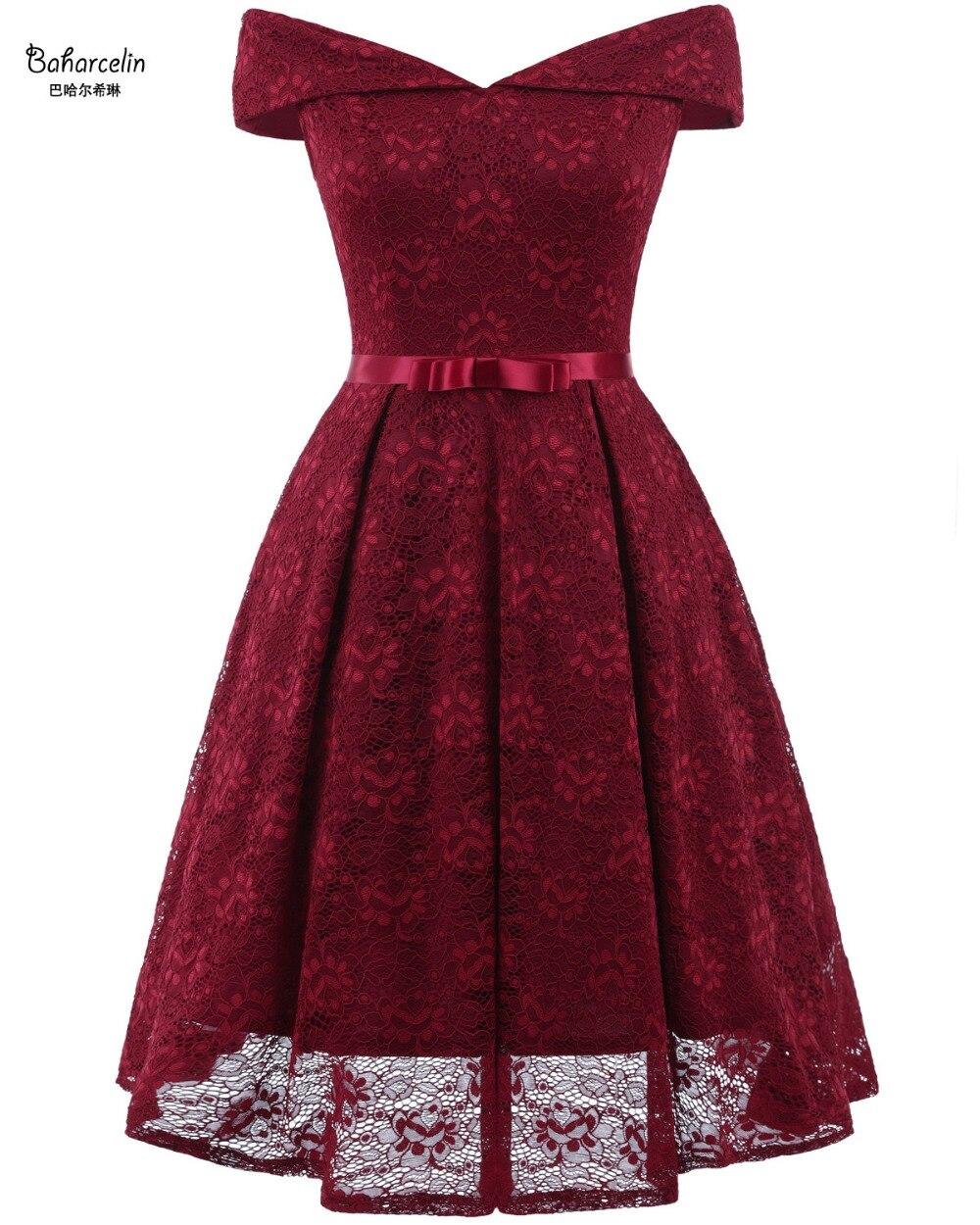 Baharcelin 2019 duży rozmiar lato dziewczyna kobiety slash neck koronki sukienka elegancki haft wąskie sukienki Vestidos de Festa na imprezę w Suknie od Odzież damska na AliExpress - 11.11_Double 11Singles' Day 1