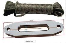 Gri 5mm * 15m vinç halatı ile 4000lbs Hawse Fairlead, sentetik vinç kablo, ATV vinç aksesuarları