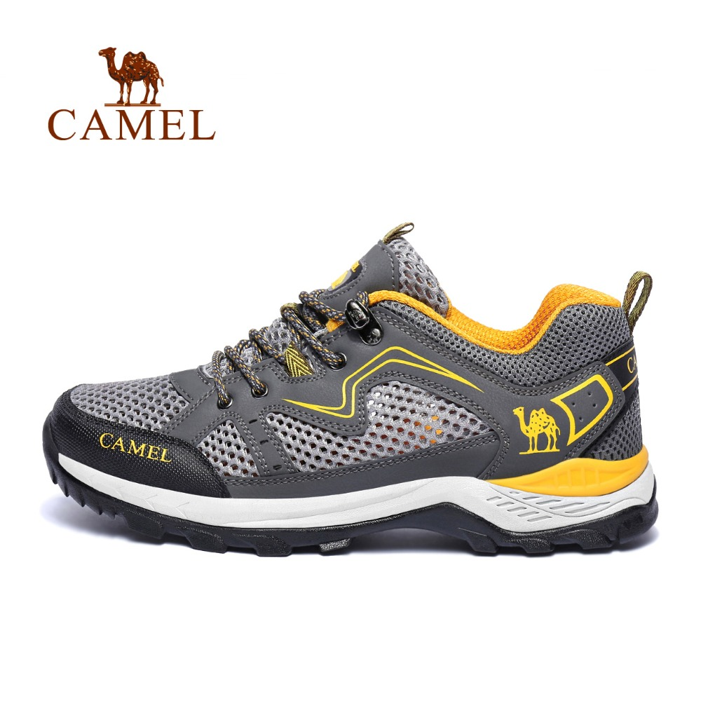 CAMEL New Classic Style Men Lace-up Hiking Shoes Breathable Mesh Lightweight Jogging Trekking Climbing Outdoor Sports Sneakers camel men summer air mesh outdoor hiking shoes breathable shock absorption lightweight walking climbing excursion sneakers