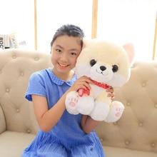 Throw Pillow Plush-Toy Pomeranian Dog Large Soft-Doll Christmas-Gift 38cm Cartoon S2905