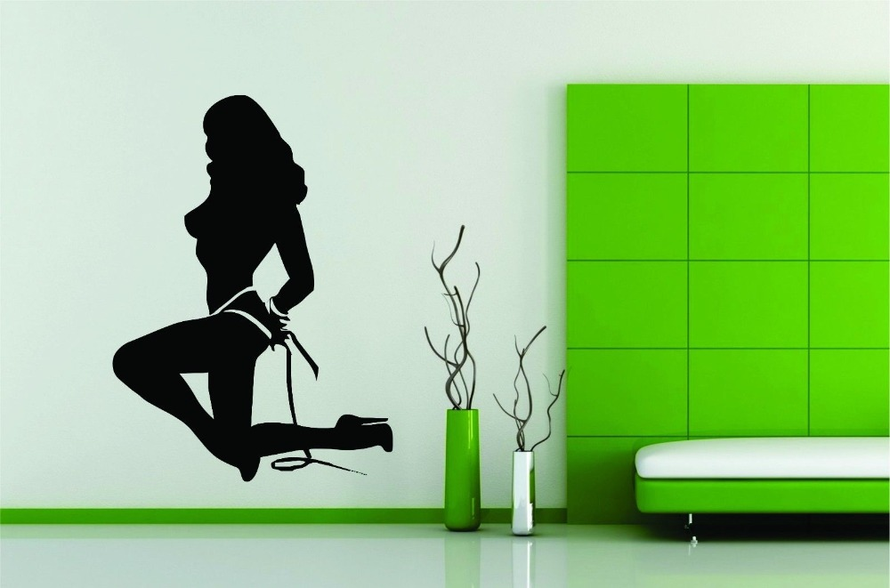 ⑦Vinilo decoración arte mural sticker sexy Girl retro caliente ...