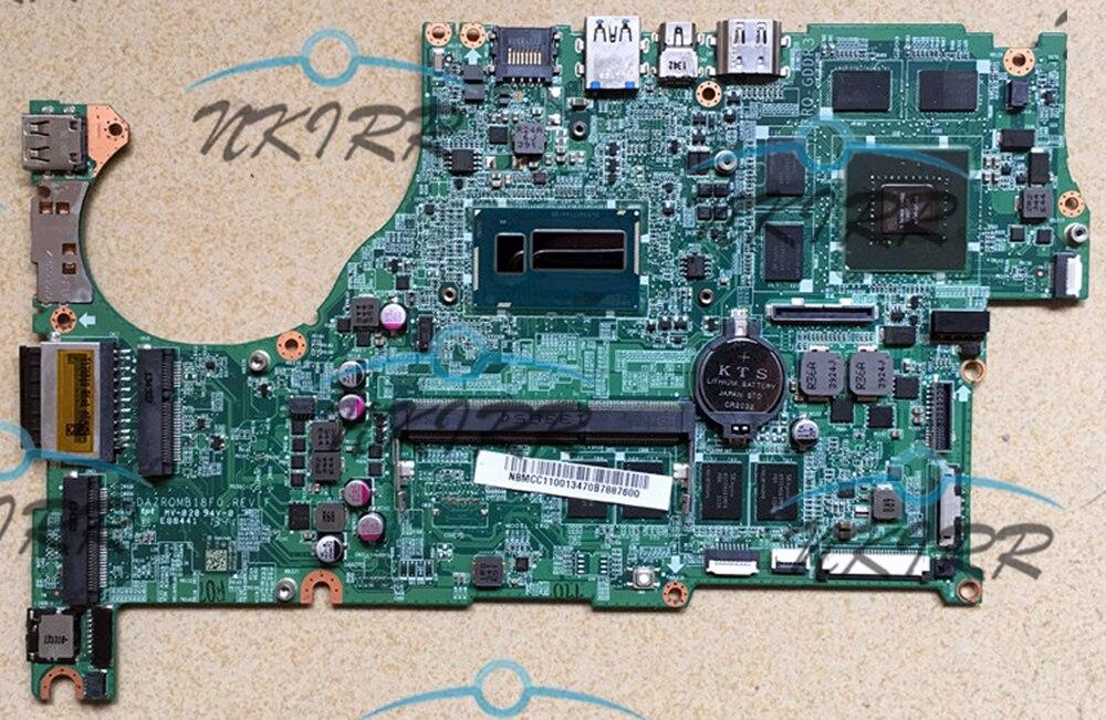 100% working DAZRQMB18F0 REV: F i5 4G GT750M MotherBoard SYSTEM BOARD for Acer Aspire V5 473P V5 573 V5 573PG V7 582PG m5 583p