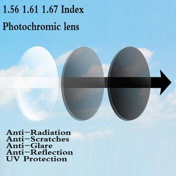 Lentille optique asphérique   1.56 1.61, indice photochromique, lentille de Prescription de myopie presbyte, lentille de Protection UV FT0003