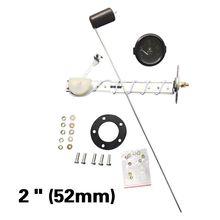 Автомобильный измеритель с датчиком подачи топлива, белый светодиодный светильник, черный обод, автомобильная панель приборов, 12 В, 2 дюйма, 52 мм, белый циферблат, датчик уровня топлива