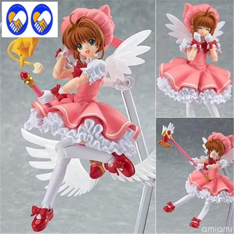 A Toy A Dream Figma Cardcaptor Sakura Kinomoto Sakura Doll 244 PVC Action Figure Japanese Anime Figures Model Toy 15cm in box metal gear solid action figure sons of liberty figma 298 soldier pvc toy 16cm anime games figures snake collectible model doll