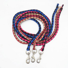 Cuerda de caballo, tejido redondo, gancho y corbata, accesorios de arnés de cuerda de caballo, suministros ecuestres, equipo ecuestre