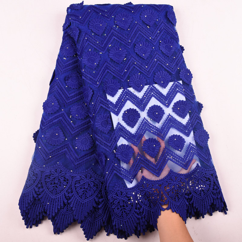 Latest African Milk Silk Applique Lace Fabric High Quality French Mesh Lace Fabric With Stones Milk Silk For Nigerian DressF1577