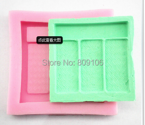 Bakeware Baking & Pastry Tools Wholesale/retail,free Shipping,1 Pcs Large Dressing Box Shape Silicone Mold Fondant Cake Mold Clay Soap Mouldfm Meticulous Dyeing Processes