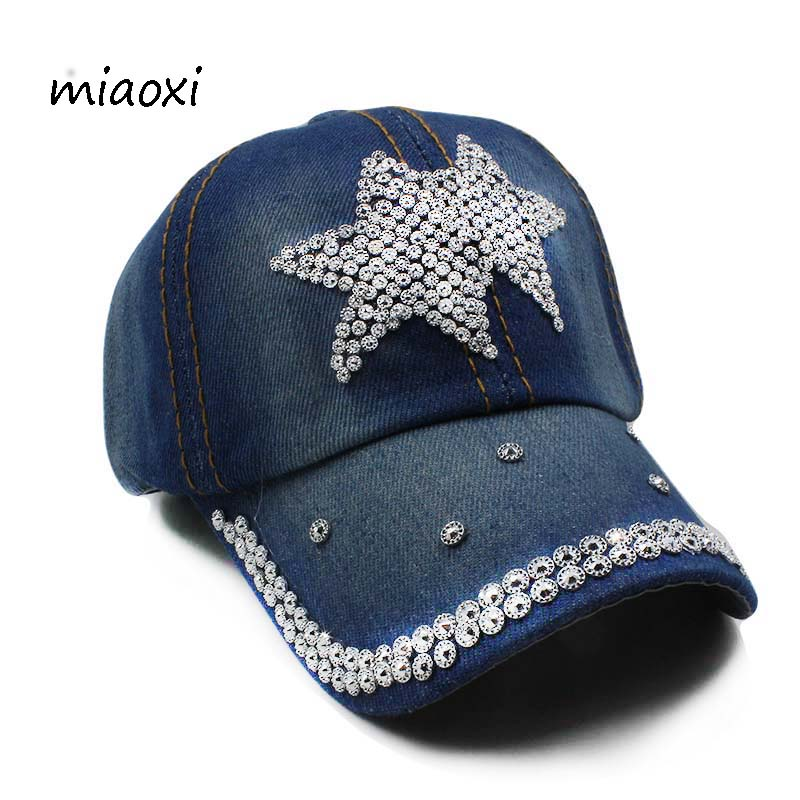 miaoxi New Child Denim Girls Baseball Cap Floral Adjustable Girl Summer Hat Cowboy Sun Hats Children Snapback Rhinestone Gorass new fashion floral adjustable women cowboy denim baseball cap jean summer hat female adult girls hip hop caps snapback bone hats