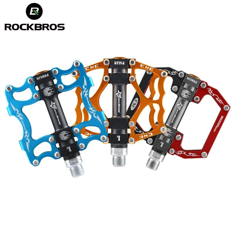 ROCKBROS vtt vélo de route pédales vélo de montagne pédale cyclisme équitation en alliage d'aluminium creux ultraléger Seald roulement BMX pédales