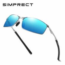 SIMPRECT 2019 New Photochromic Polarized Sunglasses Men Fashion Rectangle UV400 High Quality Metal Mirror Driving Sun Glasses