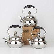 Кухонная посуда, чайники для воды, круглые, 304, нержавеющая сталь, электромагнитная печь, чайник с чайной фильтрующей сеткой