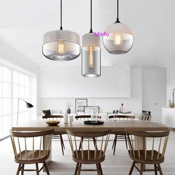 Nordic Minimalistische Woonkamer Bar Glazen Hanglamp Post Moderne Cafe Led Verlichting Persoonlijkheid Restaurant Slaapkamer Hanger Lampen