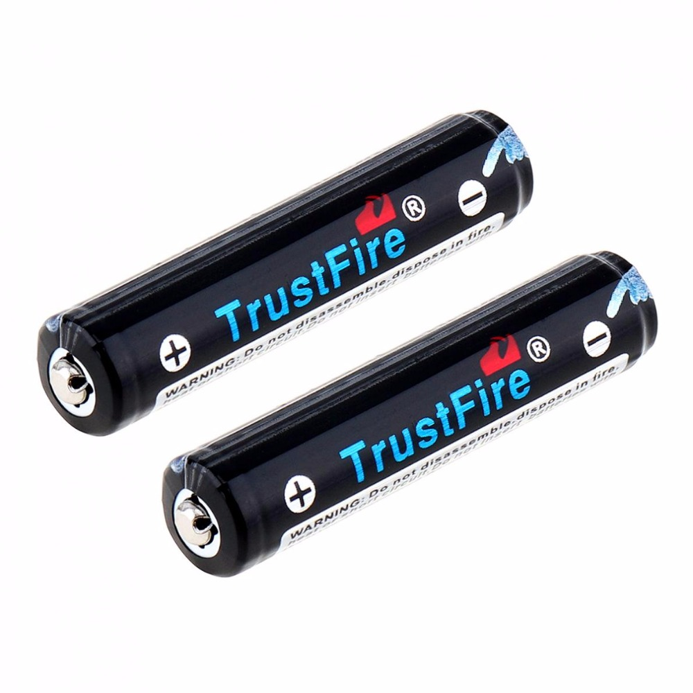 30pcs/lot TrustFire 3.7V 10440 350mAh Li-ion Battery Rechargeable Batteries with Protected PCB for LED Flashlights Headlamps