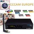 Freesat V7 Combo DVB-S2 CCcam Receptor DVB-T2 con Un Año de Europa 1 Receptor de Satélite Cline y 1 unid USB WIFI Set top box