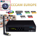 Freesat V7 Combo DVB-S2 DVB-T2 Receptor with One Year Europe CCcam 1 Cline Satellite Receiver and 1pc USB WIFI Set top box