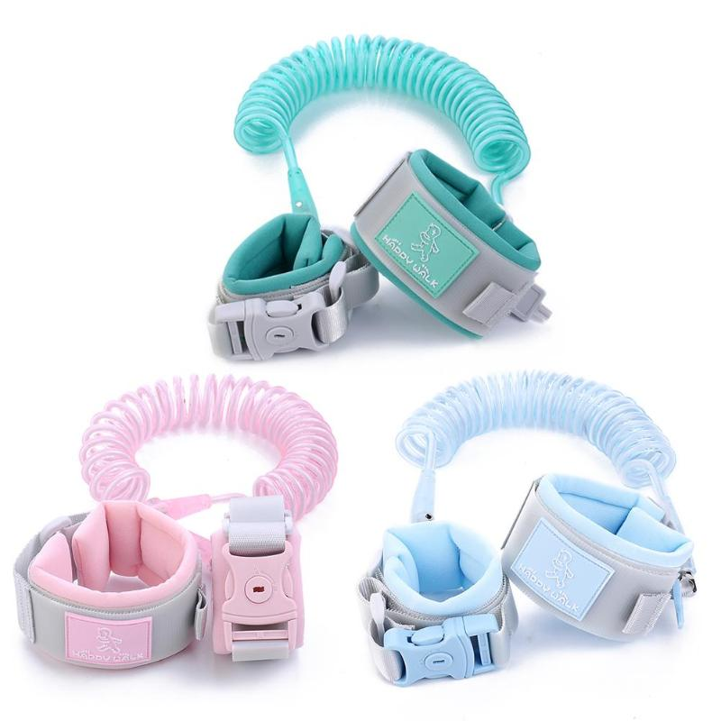 Adjustable Child Safety Harness Children Wrist Leash Anti-lost Link Traction Rope Wristband For Baby Care Kids Walking Hand Belt