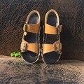 Детская обувь мягкие кожаные мальчиков сандалии мужской ребенка водонепроницаемый