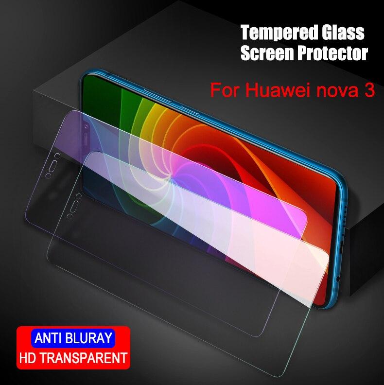 Galleria fotografica 2pcs/lot Full Tempered Glass For Huawei nova 3 Glass Screen Protector 2.5D 9h tempered glass For Huawei nova3 Anti Blu-ray 6.3