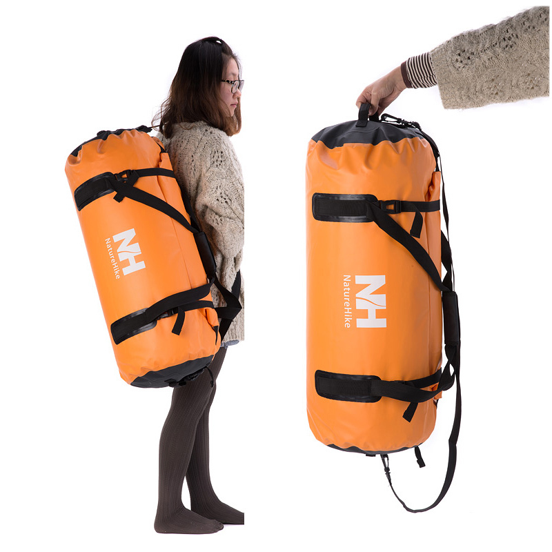 Us 55 1 20 Off Naturehike Waterproof Bag Travel 60l Dry With Strap Storage Outdoor Swimming Rafting Portable Orange In