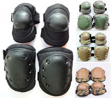 6 Color Airsoft Tactical Knee & Elbow Protective Pads Set