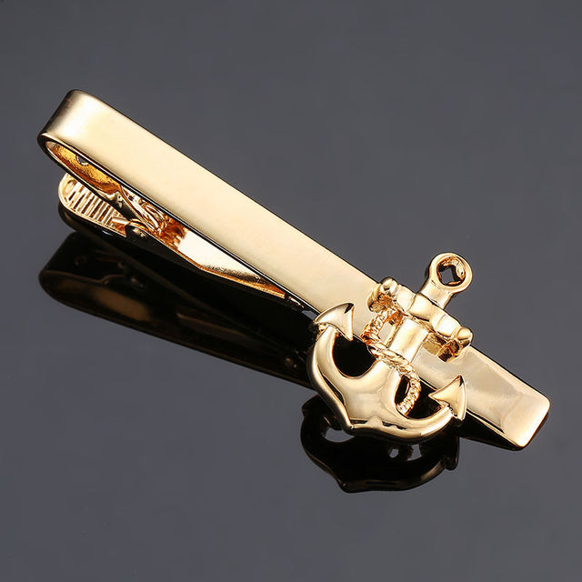 DY New and high quality laser engraving tie clip  fashion style  gold  silver and black men's business tie pin Free Delivery 3