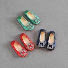 Новинка года; сезон весна-осень; корейская мода; Детские однотонные квадратные стразы; обувь принцессы для девочек; обувь в рулоне