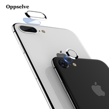 Transparent Camera Lens Screen Protector For iPhone 8 7 Plus Tempered Glass+Metal Rear Protective Ring 8Plus