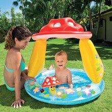 Детский бассейн для младенцев, надувной тент, бассейн с крышкой, детский бассейн для игры в воду, открытая ванна, детский бассейн