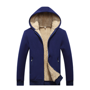 Image 5 - New Arrival Winter Thickening Hoodies Men Casual Jacket Fur Lining Solid Warm Cloth Zipper Coats Sweatshirts Cashmere Parkas 624