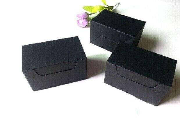 Us 75 0 10 6 6 Cm Dhl Freies Verschiffen Schwarz Packpapierkasten Geschenk Kraft Visitenkarte Verpackung Box 200piece Los In Geschenktüten