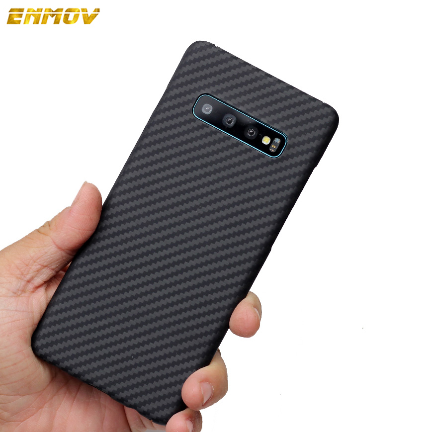 ENMOV Ultra Thin 100% Real Carbon Fiber Case for Samsung Galaxy S10 S10Plus S9 S9 plus Business Matte Luxury Cover for Note8